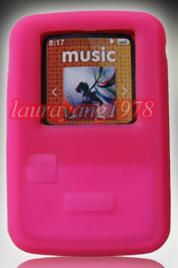 PINK SOFT SILICONE SKIN CASE COVER for SANDISK SANSA CLIP ZIP 4GB 8GB MP3 PLAYER